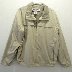 Men's Columbia Khaki Jacket XL Lined Full Zip